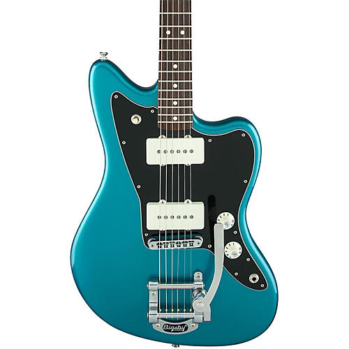 Fender Limited Edition American Special Jazzmaster with Bigsby Electric Guitar Candy Apple Red-thumbnail