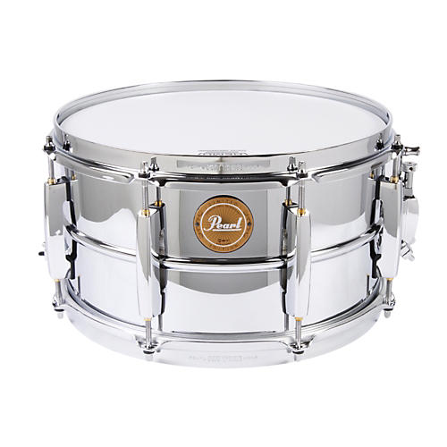 Pearl Limited Edition Beaded Steel Shell Snare Drum-thumbnail