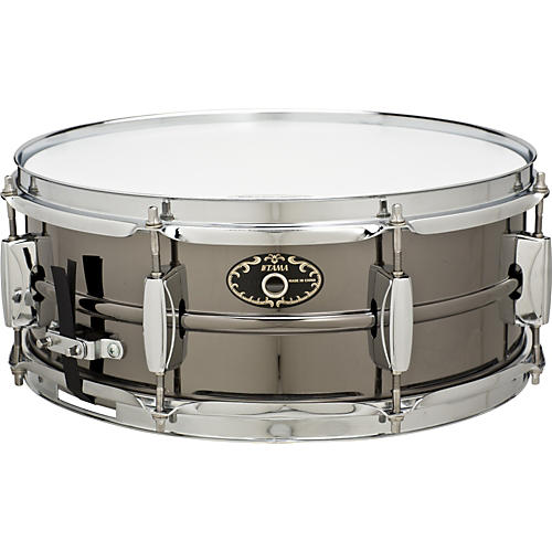 Tama Limited Edition Black Nickel Steel Snare Drum-thumbnail