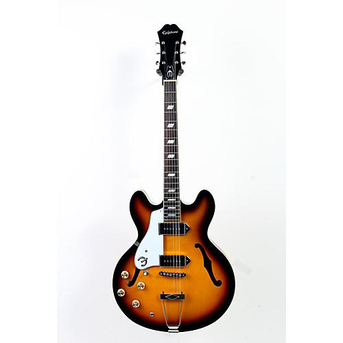 Epiphone Limited Edition Casino Left Handed Hollowbody Electric Guitar Vintage Sunburst 888365258881