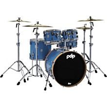 PDP by DW Limited Edition Concept Maple 5-Piece Shell Pack Blue with Orange Bass Drum Hoops