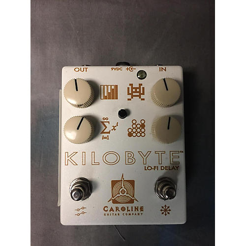In Store Used Limited Edition Cream Kilobyte Lo-Fi Delay Effect Pedal-thumbnail