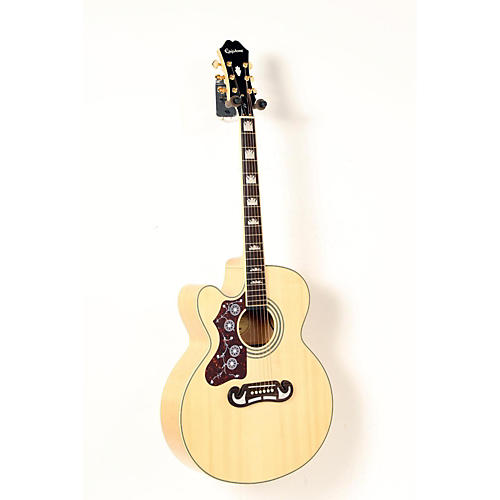 Epiphone Limited Edition EJ-200SCE Left-Handed Acoustic-Electric Guitar Natural 888365261270