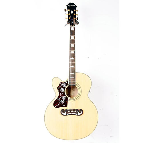 Epiphone Limited Edition EJ-200SCE Left-Handed Acoustic-Electric Guitar Natural 888365263144