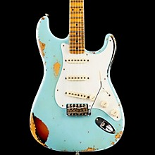Limited Edition Heavy Relic Mischief Maker Maple Fingerboard Electric Guitar Daphne Blue over 3-Color Sunburst