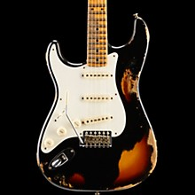 Limited Edition Heavy Relic Mischief Maker Maple Fingerboard Left-Handed Electric Guitar Black over 3-Color Sunburst