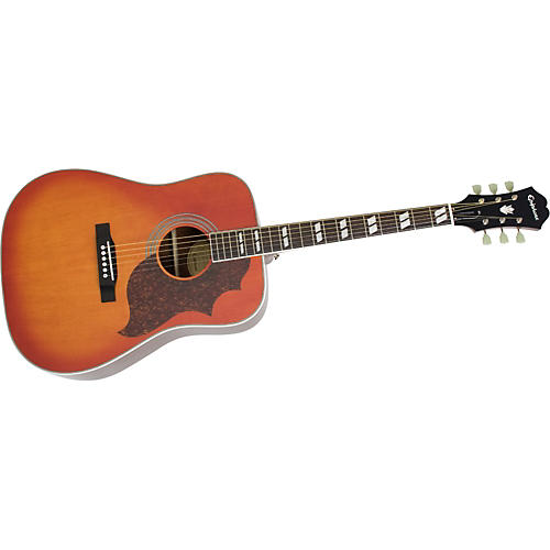 Epiphone Limited Edition Hummingbird Artist Acoustic Guitar Faded Cherry