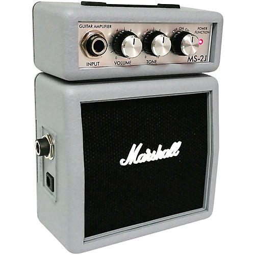 Marshall Limited Edition MS-2J 1W Micro Guitar Amp Silver