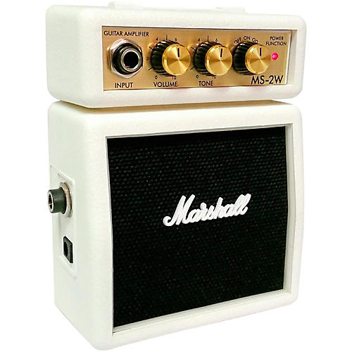 Marshall Limited Edition MS-2W 1W Micro Guitar Amp White-thumbnail