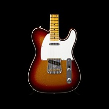 Fender Custom Shop Limited Edition NAMM 2016 Custom Built Postmodern Journeyman Relic Maple Fingerboard Telecaster 3-Color Sunburst over Gold Sparkle