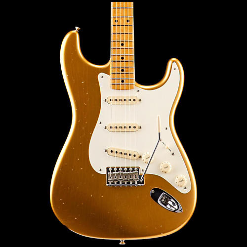 Fender Custom Shop Limited Edition NAMM Custom Built '50s Journeyman Relic Stratocaster Electric Guitar with Maple Fretboard Aged Aztec Gold