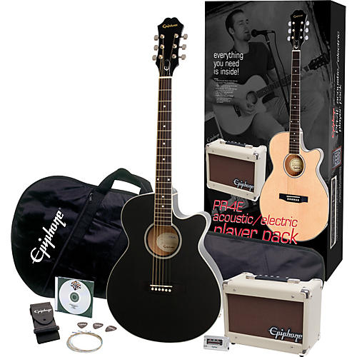 Epiphone Limited Edition PR-4E Acoustic-Electric Guitar Value Pack