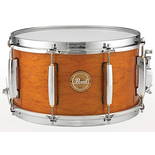 Pearl Limited Edition Poplar/African Mahogany Power Piccolo Snare Drum Liquid Amber with Chrome Hardware 13x7