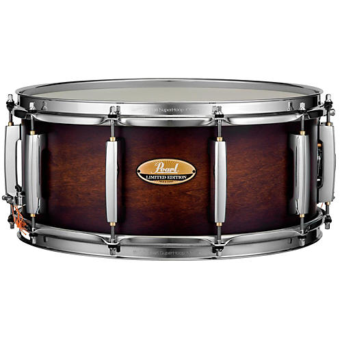 Pearl Limited Edition Poplar/Fiberglass Snare 15 x 6.5 in. Satin Brown Burst