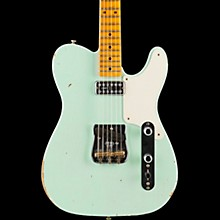Fender Custom Shop Limited Edition Relic Tele Caballo Tono with Maple Fingerboard Electric Guitar Faded Surf Green