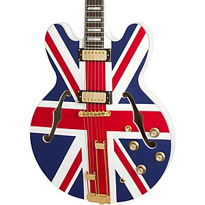 "Epiphone Limited Edition ""Union Jack"" Sheraton Hollowbody Electric Guitar by Epiphone"