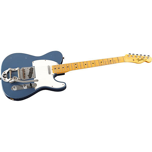 Fender Custom Shop Limited Relic Bigsby Telecaster Electric Guitar Aged Lake Placid Blue