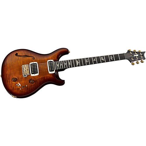 PRS Limited Run 408 Semi-Hollowbody Electric Guitar Black Gold Burst Ebony Fretboard