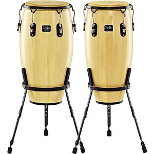 Schalloch Linea 200 2-Piece Conga Set with Basket Stands by Schalloch