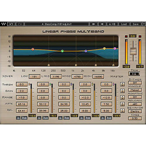 Waves Linear Phase Multiband Compressor Native/TDM/SG Software Download-thumbnail