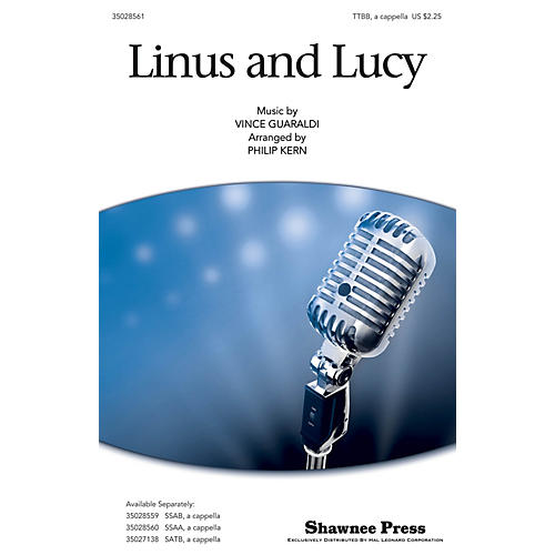 Shawnee Press Linus and Lucy TTB arranged by Philip Kern