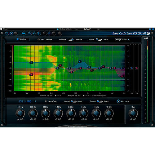 Blue Cat Audio Liny EQ Graphic Equalizer Software Download
