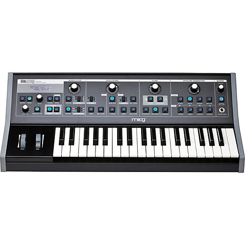 Moog Little Phatty Stage II Keyboard Synthesizer with Blue LEDs