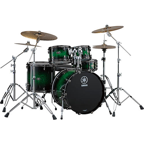 Yamaha Live Custom 4-Piece Shell Pack Emerald Shadow Sunburst-thumbnail