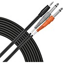 "Live Wire 1/8"" (TRS) - Dual 1/4"" Y Cable (E10DQ)"