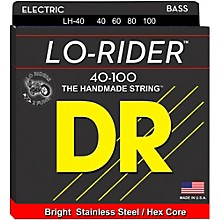 DR Strings Lo Rider LH-40 Lite Stainless Steel 4 String Bass Strings