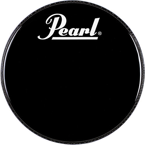 Pearl Logo Front Bass Drumhead Black 20 in.