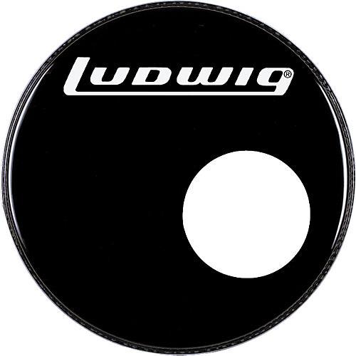 Ludwig Logo Resonance Bass Drum Head with Port-thumbnail