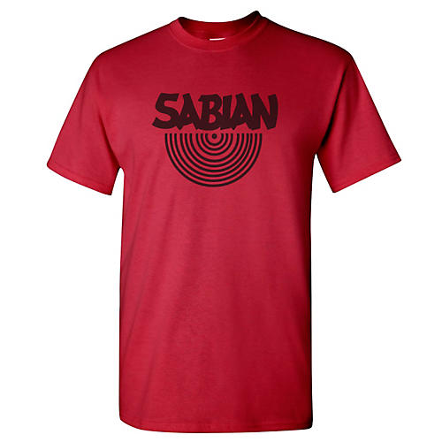 Sabian Logo T-Shirt Cardinal Red Medium