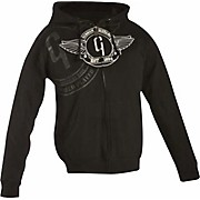 Logo Zip-up Hoodie Black Large