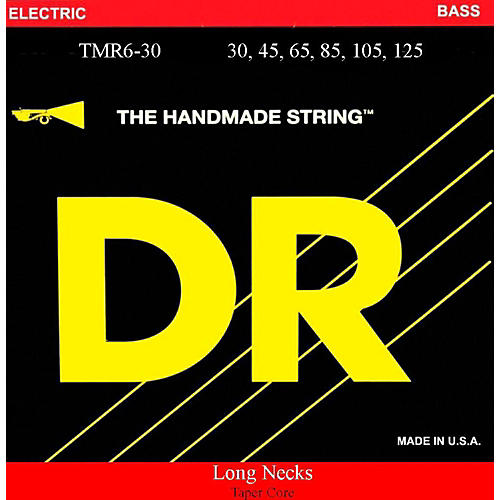 DR Strings Long Necks Taper Core Medium 6-String Bass Strings-thumbnail