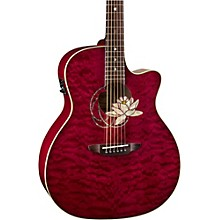 Luna Guitars Lotus Quilted Maple Acoustic-Electric Guitar