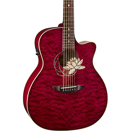 Luna Guitars Lotus Quilted Maple Acoustic-Electric Guitar-thumbnail
