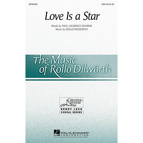 Hal Leonard Love Is a Star SSA composed by Rollo Dilworth