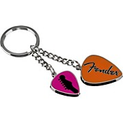 Fender Love Peace and Music Keychain