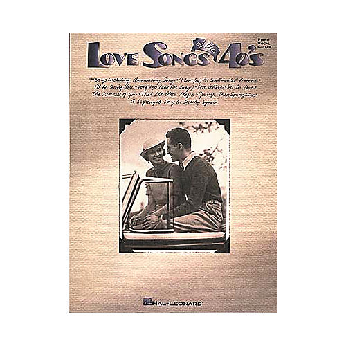Hal Leonard Love Songs Of The 40's Piano/Vocal/Guitar Songbook-thumbnail