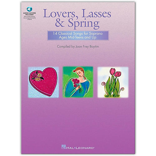 Hal Leonard Lovers, Lasses And Spring (14 Classical Songs for Soprano Ages Mid-Teens & Up)  Book/CD