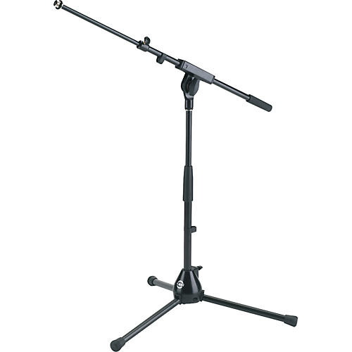 K&M Low-Level Microphone Stand with 2-Piece Boom Arm