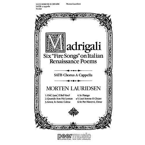 Peer Music Luci Serene e Chiare SATB a cappella Composed by Morten Lauridsen