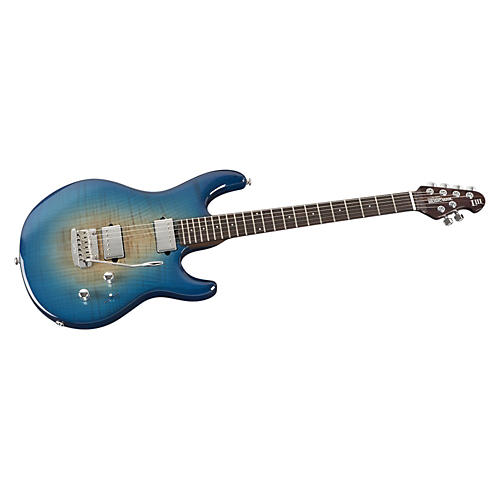 Ernie Ball Music Man Luke III HH Flame Maple Top Electric Guitar Bali Blue Burst