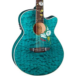Luna Guitars Flora Series Custom Folk Acoustic-Electric Guitar