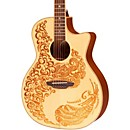 Luna Guitars Henna Paradise Spruce Series II Acoustic-Electric Guitar (HEN P2 SPR)