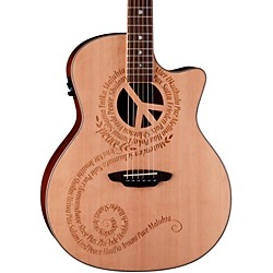 Luna Guitars Oracle Grand Concert Series Peace Acoustic-Electric Guitar