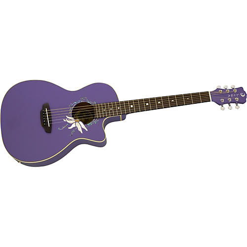 Luna Guitars Luna Passionflower Cutaway Acoustic-Electric Guitar