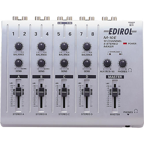 Edirol M-10E 10 Input (5 Stereo) Channel Mixer