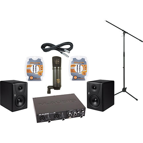 Mackie M-Audio ProFire 610 and Mackie MR5 Recording Package